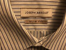 Joseph Abboud Men's Button Dress Shirt L/S Blue White Stripe Size 16 32/33