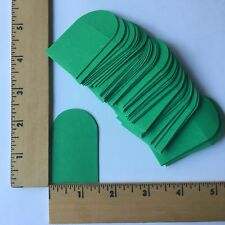 "50 Small 1 1/2"" x 1 1/2"" Green Square Envelope Tiny Little - NEW"