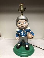 Vintage Atlantic Mold Ceramic Lamp Detroit Lions Football Player Big Eye Child