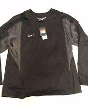 Nike Men's Baseball Vapor L/S 708188-010 Black Pullover Windshirt Jacket Sz L