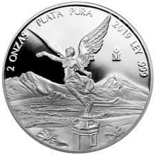 2019 Proof Silver Mexican Libertad Onza 2 oz in Cap