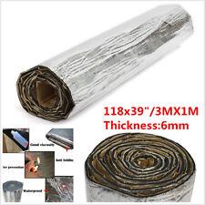 6mm 3X1M Car Hood Heat Shield Insulation Deadening Material Mat Firewall Sound