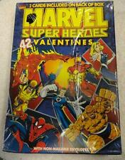 1 Box of 42 NOS Marvel Super Heroes Classroom VALENTINES DAY CARDS 1996 Vintage