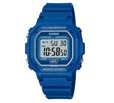 Reloj de cuarzo Casio Unisex Azul digital resistente al agua iluminador 30M Nuevo