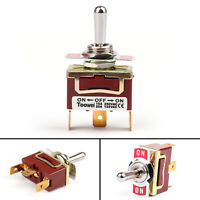Toowei 3 Terminal 3Pin ON-OFF-ON 15A 250V Toggle Switch Boot SP3T Grade BK
