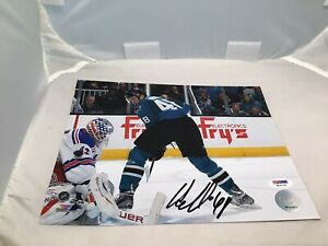 Tomas Hertl Signed San Jose Sharks 8x10 Photo Autographed PSA/DNA COA 1A