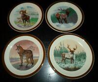 "(4) National Wildlife Federation - AMERICAN WILDERNESS 7 1/2"" Salad Plates"