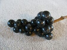 Vintage Alabaster  Bunch of Purple/Black Grapes