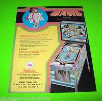 Williams DIPSY DOODLE Original 1970 NOS Flipper Game Pinball Machine Sales Flyer