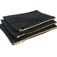 10 PCS Cotton Canvas Blank Make up bags Cosmetic Travel bag with Gold Zipper