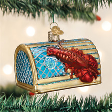 Lobster Trap Animal Old World Christmas Tree Glass Ornament NWT 44104