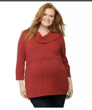 Oh Baby by Motherhood Maternity cowl neck sweater size 1x New W Tags Maroon/red