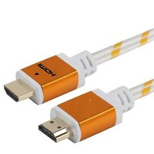 PREMIUM HDMI CABLE 10FT V1.4 TV 3D DVD PS4 XBOX LCD LED ETHERNET HD WHITE 1080P