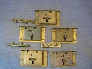 Old brass locks  x  5