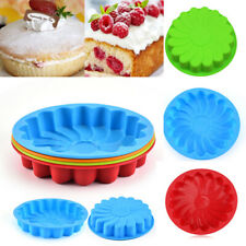 Fashion Silicone Tray Mold Muffin Large Flower Baking Mould Cake  Pan Kitchen