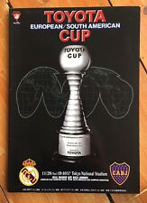 More details for 2000 world club toyota cup final:- real madrid v boca juniors. vgc.