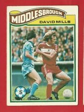 TOPPS FOOTBALLERS 1978 - ORANGE BACK TRADE CARD 215 - DAVID MILLS  (OK03)