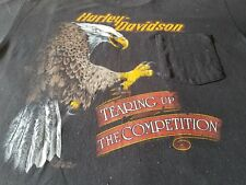 HARLEY DAVIDSON TEARING UP THE COMPETITION XL RARE VINTAGE 80S TEE SHIRT