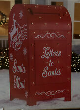 """Holiday Living 60"""" Mailbox Sculpture w/Clear Led Lights"""