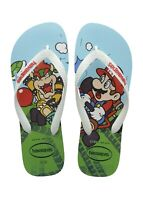 Havaianas Men's Mario Brothers Flip Flop Sandals - Mario Bowser White/Green NWT