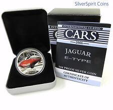 2006 INTERNATIONAL CLASSIC CARS JAGUAR E TYPE Silver Proof Coin