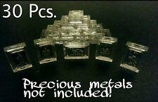 30 X 1 Gram .999 Fine Silver Gold Bar Acrylic Holders / Fractional Cases ☆☆☆☆☆