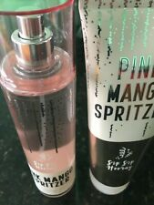 Bath and Body Works Pink Mango Spritzer Body Cream & Fine Fragrance Mist New Set
