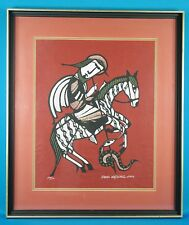 "Sadao Watanabe Signed ""St. George"" Original LE Color Stencil Woodblock Print"