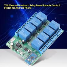 DC 5V 8Kanal Bluetooth Relais modul Fernbedienung Steuermodul Switch Für Android