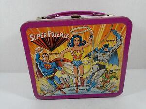 1976 ALADDIN--SUPER FRIENDS--METAL LUNCHBOX (LOOK)