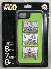 Disney iPhone 6s+ 7+ 8 Plus Star Wars Baby Yoda Mandalorian Protect Attack Snack