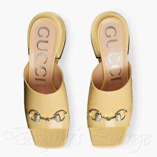 NEW GUCCI Lexi 37 US 7 Horsebit Patent Leather Slides Mules $890 Authentic