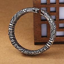 Fine Jewelry 18 Kt Hallmark Real Solid White Gold Sky Dragon Men'S Bracelet 9 MM