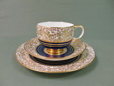 Stunning Vintage Paragon Trio - Gold & Cobalt Blue