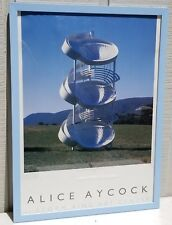 ALICE AYCOCK STORM KING ART CENTER 1990 ART EXHIBITION POSTER