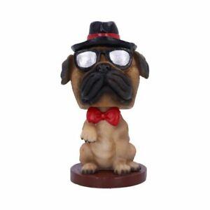 BOBBLE PUG Fawn Bobble Head Dog Ornament Figurine Gift Nemesis Now FREE P+P