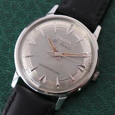 Vintage 1964 Bulova Automatic 10CRAC Men's Stainless Steel Dress Watch 33mm