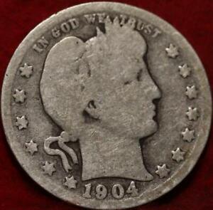 1904-O New Orleans Mint Silver Barber Quarter