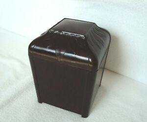 Antique Art Deco Brown Bakelite Tobacco Box