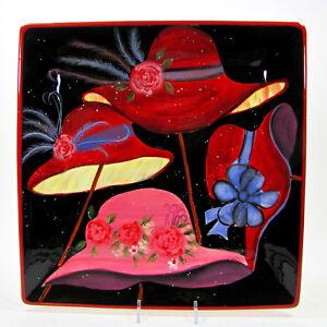 "Certified International RED HAT SOCIETY 13"" Square Serving Platter Susan Winget"