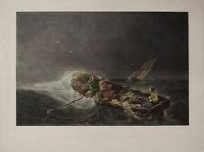 MARINA PESCATORI TEMPESTA - Fishermen boat Strorm - Litografia 1800 Sabatier