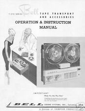 BELL SOUND T-210 OPERATION & INSTRUCTION SERVICE MANUAL