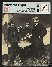 FIRST ENGLISH CHANNEL FLIGHT AIRPLANE Louis Bleriot 1978 SPORTSCASTER CARD 25-02