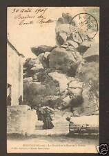 BONIFACIO (Corse) CHAPELLE & MONT DE TRINITE ,sortie de Messe avant 1904