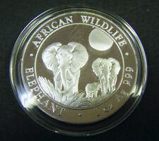 2014 Somalian African Elephant 1oz Silver Bullion Coin 100 Schillings