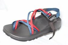"""Chaco Unaweep """"MyChacos""""  ZX/2 Red & Blue Sport Hiking Rafting Sandals Men's 9"""