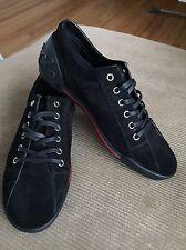 Gucci Black Heel Logo Nero Softy Tek Sneakers Size 39