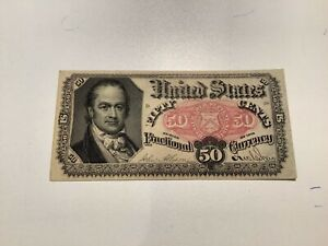 50 Cents Fractional Currency 1875 United States 5th Issue Higher Grade b13