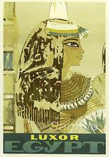 VINTAGE LUXOR EGYPT TRAVEL A4 POSTER PRINT