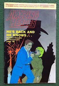 Amazing Heroes #88 Fantagraphics Bronze Age comic book fanzine prozine